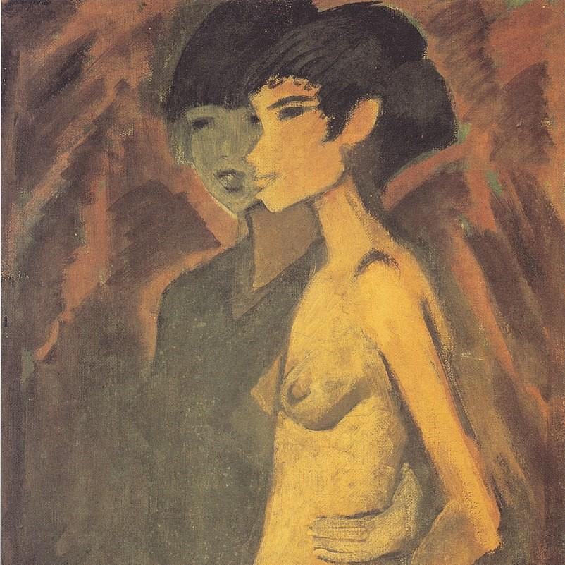 Otto Müller - zwei Zigeunerinnen