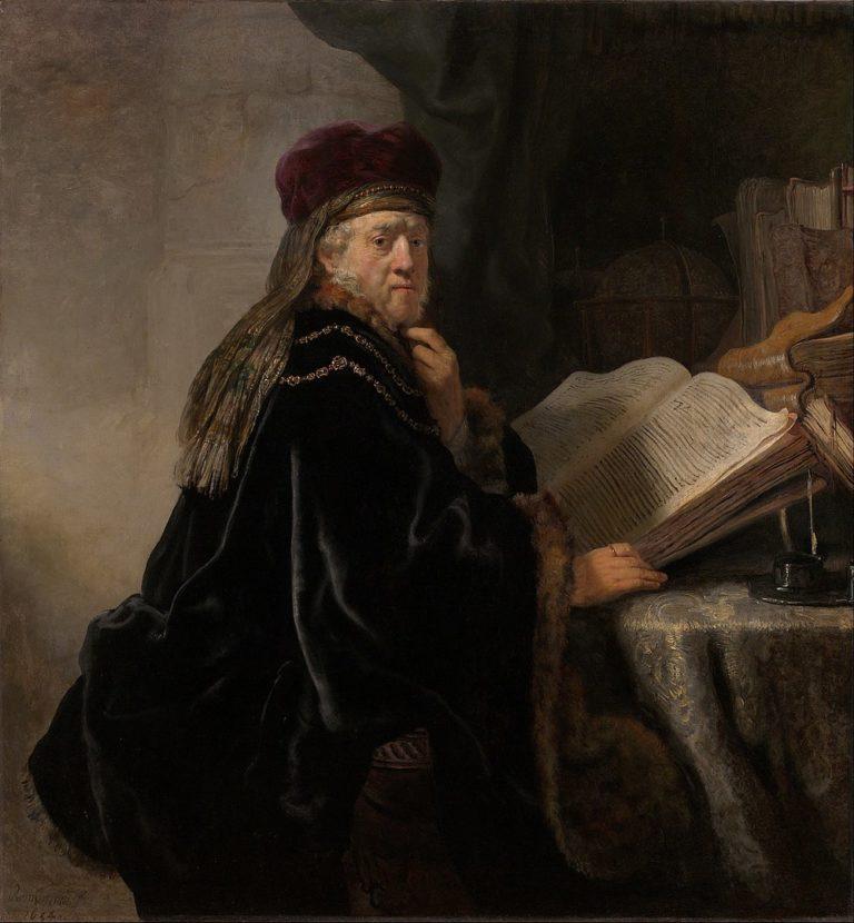 Rembrandt Harmensz van Rijn - Gelehrter im Studierzimmer