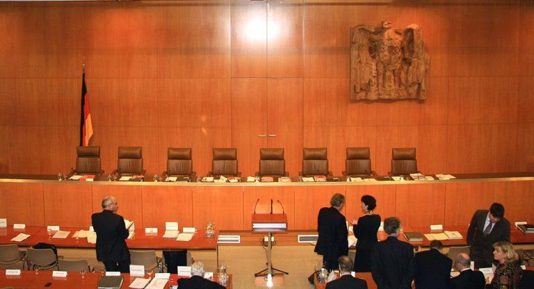 Gerichtssaal des Bundesverfassungsgerichts