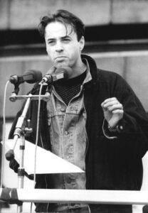 Bürgerrechtler Jan Josef Liefers auf der Berliner Großdemonstration vom 4.11.1989