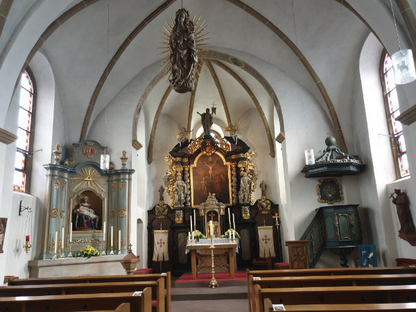 St. Johannes, Stockkämpen. Inneres.