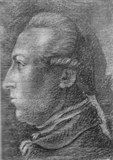 Goethe, Friedrich Maximilian Klinger, Kreidezeichnung, Freies Deutsches Hochstift (Goethe-Museum), Frankfurt a. M.